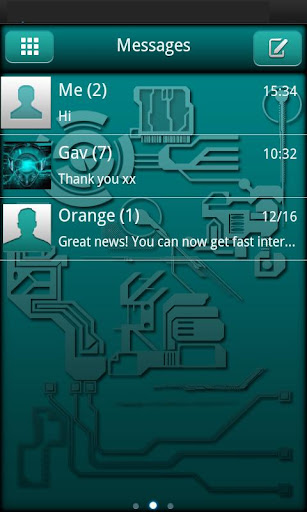 Droid Tech Go Sms Theme