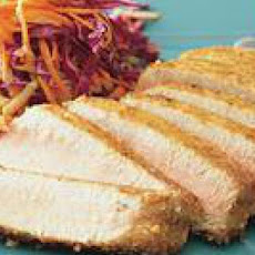 Rice CrackerCrusted Tuna with Apple Slaw