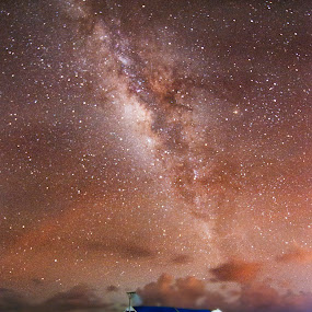 STARHOPPING by Noel Angeles - Landscapes Starscapes ( nature, seascape, landscape, boat, milky way )