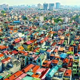 The roofs by Amateur Pic - City,  Street & Park  Skylines ( roof, skyline, hanoi, vietnam, amateurpic, Urban, City, Lifestyle )