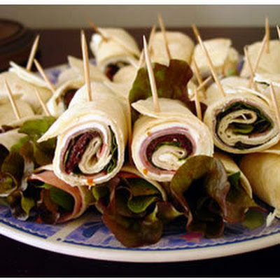 Ham, Basil And Cream Cheese Roll Ups
