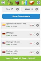 Screenshot of Online Tennis Manager Game