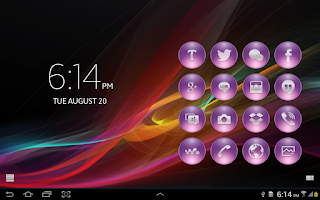 Screenshot of SL Theme Xperia