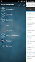 Screenshot of myHomework Student Planner