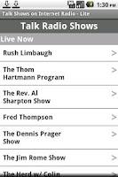 Screenshot of Talk Shows Lite