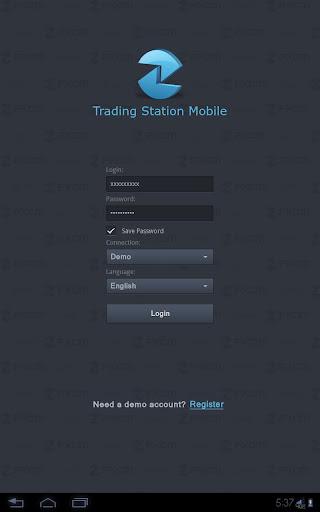 Trading Station Mobile Tablet