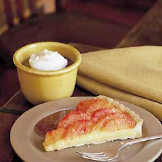 Blood Orange Tart with Orange Caramel Sauce