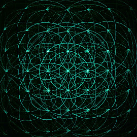 Laser by Monica Durbac - Abstract Light Painting ( circles, green, light paiting, laser, paiting, light )