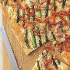 Asparagus, Cheese and Prosciutto Pizza
