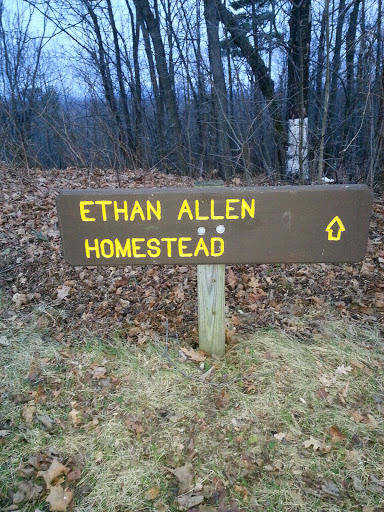 Ethan Allen Homestead Sign
