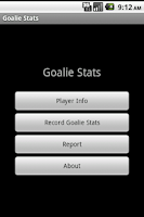 Screenshot of Youth Soccer Goalie Stats