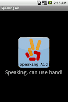 Screenshot of Speaking Aid
