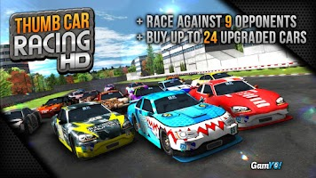 Screenshot of Thumb Car Racing