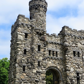 Bancroft Tower, Worcester, MA by Lori Rider - Buildings & Architecture Public & Historical ( tower, building, stone, monument, architecture )