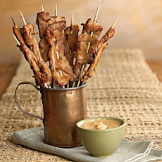 Pork Satay with Peanut Dipping Sauce