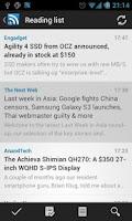 Screenshot of D7 Reader (RSS | News)