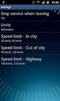 Screenshot of Speed Control App
