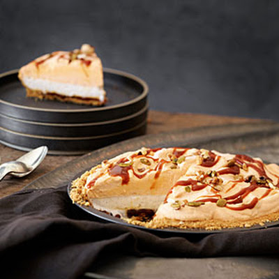 Pumpkin Caramel Ice Cream Pie