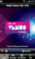 Screenshot of Radio Venus