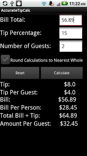 AccurateTip - Tip Calculator