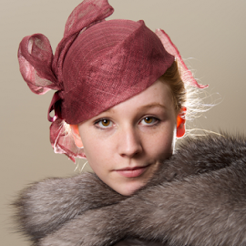 by Nick Dale - People Fashion ( red, girl, woman, fur, glove, redhead, leather, portrait, mesh, hat )
