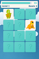 Screenshot of Kids memory game: animals