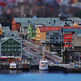 Kristiansund by Jan Helge - City,  Street & Park  Vistas ( boats, buildings, city, norway, kristiansund )