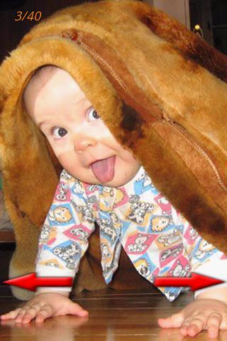変な子供の写真
