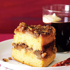 Upside-Down Sour Cream Coffee Cake with Sherry-Roasted Pears