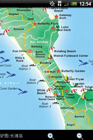 长滩岛导游图