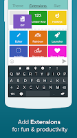 Screenshot of Fleksy Keyboard