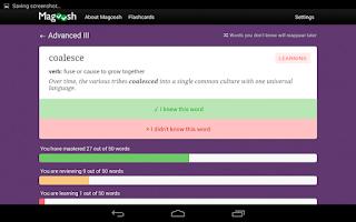 Screenshot of SAT Vocabulary Flashcards