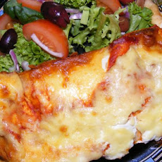 Leftover Chicken Enchiladas