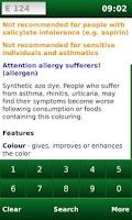 Screenshot of E-Codes: Food Additives