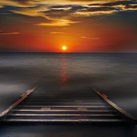 **** by Dimitrios Lamprou - Landscapes Waterscapes ( exposure, sky, patra, d800, sunset, long, sun )