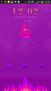 Purple Flame for GO Locker - screenshot