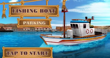 Screenshot of Fishing Boat Parking 3D Game