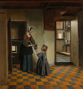 RIJKS: Pieter de Hooch: Woman with a Child in a Pantry 1660