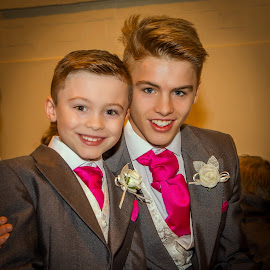 Page boys by Nick Foster - Babies & Children Child Portraits ( page boys, wedding photography, wedding, fun, brothers )