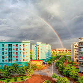Rainbow in Vincom LongBien by Tuan MA - City,  Street & Park  Vistas ( vincom, hanoi, cloud, long bien, viet hung, rainbow )