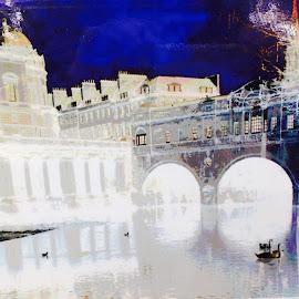 Bath  by Carol Hogarth - Digital Art Places ( water canal bridge )