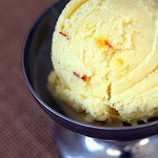 Quick Coconut Ice Cream with Saffron