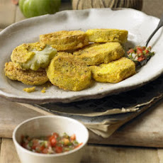Fried Green Tomatoes With Ripe Tomato Salsa