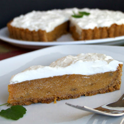 Pumpkin- Banana Mousse Tart