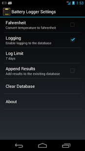 Battery Logger - screenshot