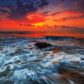 after the big wave by Budi Astawa - Landscapes Beaches ( bali, sunset, jembrana, beach, negara )