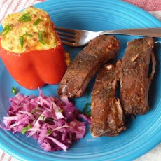 Baby Back Ribs with Hatch Green Chile BBQ Sauce