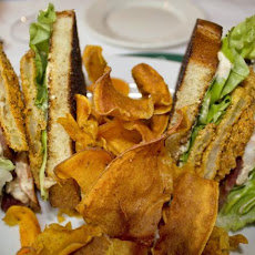 Emeril's BLT with Fried Green Tomatoes and Shrimp Remoulade