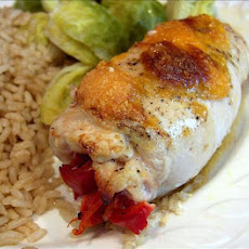 Chicken Rolls Stuffed With Bell Peppers