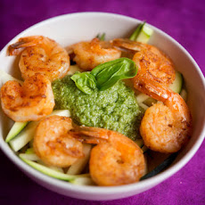 Paleo Pesto with Shrimp and Zucchini